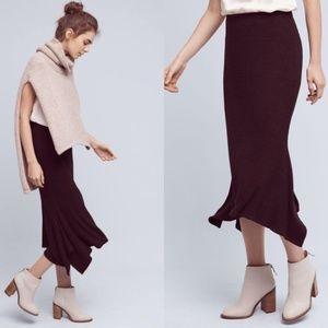 """Anthropologie DOLAN """"Mell"""" brown sweater skirt MED"""
